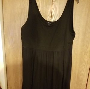 Black Tank style dress with sheer overskirt